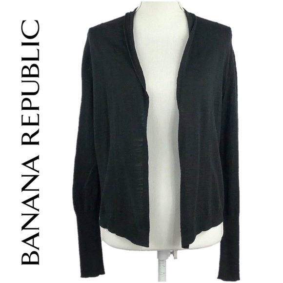 cute cheap suitable for men/women complete range of articles BANANA REPUBLIC   Black Cropped Cardigan Sweater